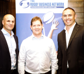 The first Perth RBN for 2016 was held in March and featured former Wallabies, Mark Bartholomeusz and Scott Staniforth, seen pictured here with Perth Convenor, Gareth Lee-Bell